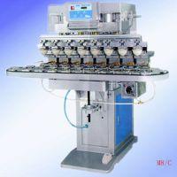 东莞忠科M8C八色输送带移印机 多功能环保油盆八色转盘移印机