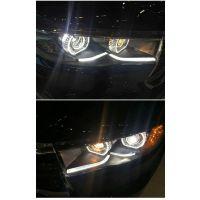 15款新汉兰达大灯总成新汉兰达改装Q5双光透镜LED日行灯氙气大灯