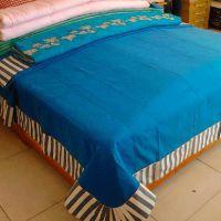 优质纯棉欧版纯色高档老粗布四件套厂家直销高档床上用品一件代发
