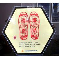 视博铭诚厂家直销加工定制超高亮六边形水晶灯箱600MM (CBox-SJ-C)