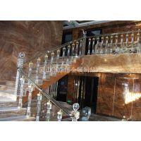 厂家供应高档水晶楼梯栏杆 水晶立柱