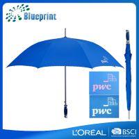 深圳华煜雨伞厂家 超大铝棒纤维广告直杆雨伞定做logo