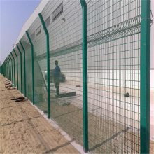 桃型柱防护网 小区隔离栏 开发区护栏
