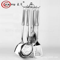 不锈钢厨具 烹饪锅铲漏勺七件套 礼品促销 不锈钢厨房工具