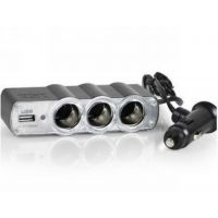 批发WF-0120 USB一分三点烟器 电源分配 手机充电 汽车用品
