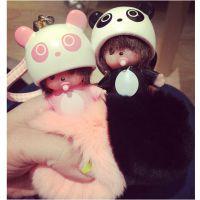 萌宝宝奶嘴獭兔毛皮草熊猫卡通钥匙包包汽车挂件包挂韩国进口配饰