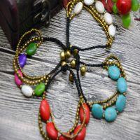 异域泰国民族风 铜珠蜡线松石手链  热气热卖特价