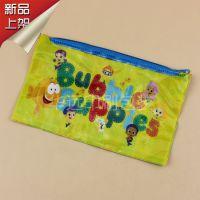 PVC袋子PVC透明网格拉链袋塑料笔袋学生文具袋定制苍南厂家直销