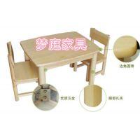 苏州厂家批发订做松木小方桌椅