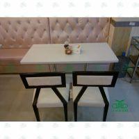 咖啡厅桌椅休闲 铁艺石材餐桌椅子组合 现代家具咖啡厅餐桌椅