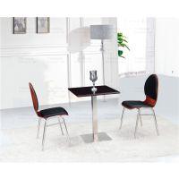 双邻提供奶茶休闲店桌椅软包垫椅弯曲木W251