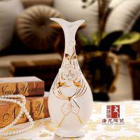室内装饰花瓶 陶瓷旗袍花瓶 唐龙陶瓷