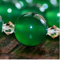 天然绿玉髓手链女款配白水晶葫芦手工原创复古民族风新款