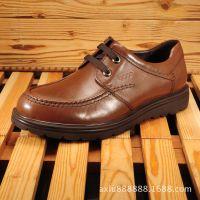 2015秋冬新款男士休闲鞋 外贸真皮舒适系带男鞋 英伦商务皮鞋加工