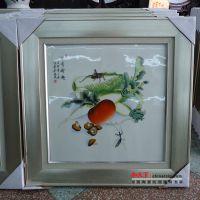 和艺陶瓷 梅兰竹菊瓷板画 手绘百子图瓷板画 景德镇大师手绘作品