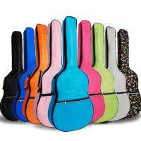 【供应】彩色吉他包双肩民谣木吉他包 加棉加厚 41寸防水防尘背包 厂家直销