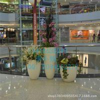 玻璃钢商场花盆组合 高档时尚花盆批发 商业中心美陈花盆