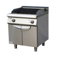 西餐炉具700电热火山石烧烤炉连下掩门柜