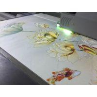 深圳沙井瓷砖背景墙彩绘加工 集成板墙面印刷 有机玻璃UV喷绘