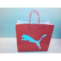 供应彪马高档白牛皮印刷包装环保纸袋 定制手提纸袋