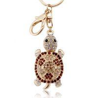 欧美流行饰品批发 包包挂件批发-满钻小乌龟钥匙扣
