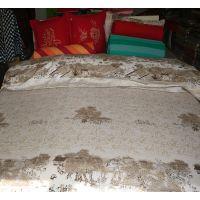 舒贝雅纯棉老粗布床上用品四件套清明上河图印花粗布套装新款厂家直销