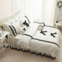 铁妹子家纺韩版系列一全棉床上用品韩版公主纯棉四件套床罩式批发