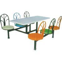 东莞厂家直销6人玻璃钢餐台配孔雀椅食堂餐桌椅餐厅餐桌