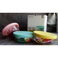 西安硅胶盖密封保鲜盒/罐/玻璃饭盒三件套福利积分礼品
