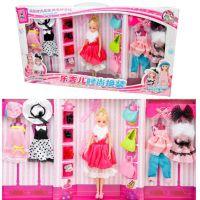 乐吉儿儿童过家家玩具时尚女孩可换装乐吉儿娃娃5大套装关节体