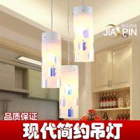 时尚现代三头餐厅吊灯 简约长方形餐吊灯饰 个性创意吧台饭厅灯具