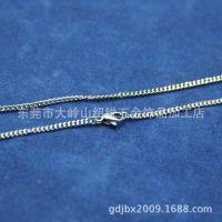 不锈钢磨链项链 不锈钢焊口项链 情侣饰品配饰批发