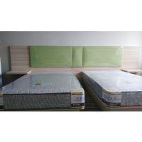 宾馆酒店床屏软包 公寓出租床架 床头柜电视柜高低桌行李储物柜