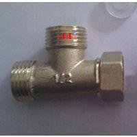 加厚4分内外外活接三通 热水器内外丝铜三通活接头 水管三通接头