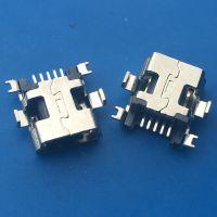 沉板/MINI USB母座5P/B型 沉板1.0、1.7mm前插后贴 迷你沉板 编带