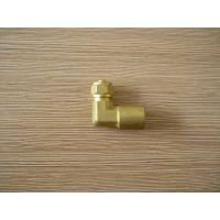 高品质 L行电缆线专用接头 ,一头螺纹,一头宝塔,L型铜质接头
