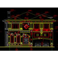 地中海风格带地下室、夹层、车库中空3户联排自建别墅设计图14.5x20.2米