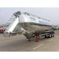最轻的立式铝合金面粉罐车 粉粒物料罐车 三轴42立方13米华宇达牌