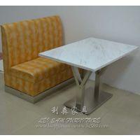 新款时尚大理石西餐桌定做 连锁店餐桌定做 大理石餐桌家具