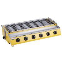 特缤WX-256A小六头燃气无烟烧烤炉家商用彩色烤生蚝炉户外烧烤炉