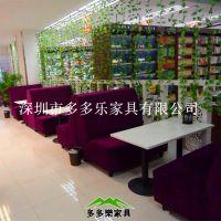 港式茶餐厅餐桌椅 休闲饮品店板式餐桌定制 多多乐家具
