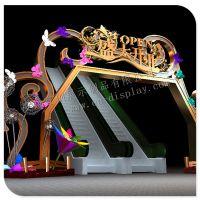 厦门宜创展示供应各类 开业装饰 铁艺拱门