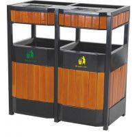 钢木分类垃圾桶,塑木垃圾桶玉洁环卫