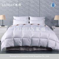 广州莱棉酒店布草 90%白鹅绒被芯酒店专用 60s双针加骨纯棉羽绒四季被 低价销售