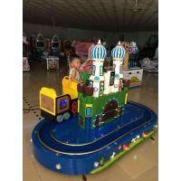 天子娱儿童投币双人轨道小火车游戏机,儿童城堡列车娱乐园2017必备热门设备