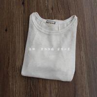 yd14050216)2014年秋季新款棉麻文艺l雪纺拼接圆领白色T恤