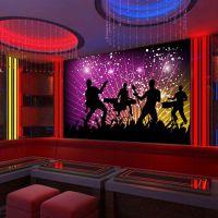 KTV装饰壁画厂家 大型3D墙画定制 沙发背景墙壁画墙纸