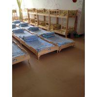 厂家大林宝宝专业定制幼儿园实木简易家具幼儿园叠加单人床
