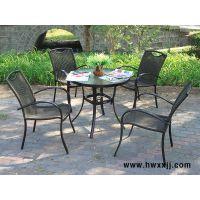 室内外铝合金桌椅星巴克咖啡厅桌椅PE藤椅馨宁居休闲家具