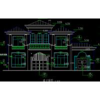 四层豪华别墅建筑施工图(2000平方米以上)